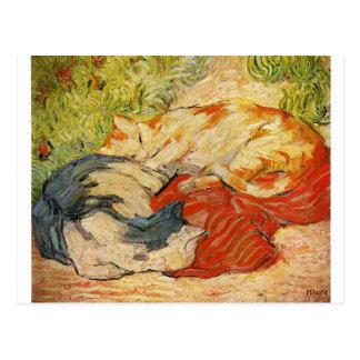 Gatos por Franz Marc Cartão Postal