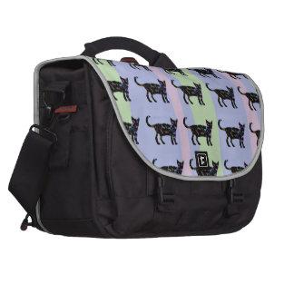Gatos pretos da beleza maletas para notebooks