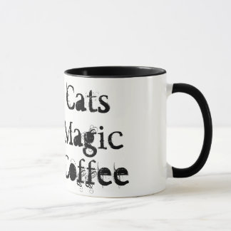 Gatos pretos, mágica, caneca do &Coffee