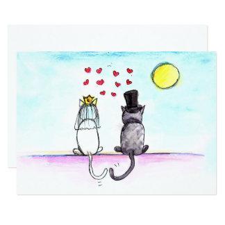 Gatos que Wedding o convite do casamento dos