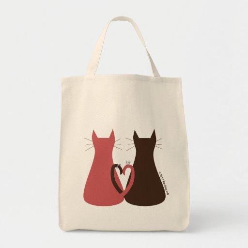 Gatos que Wedding o saco Bolsas De Lona