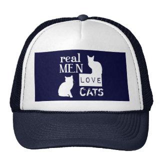 Gatos reais do amor dos homens boné