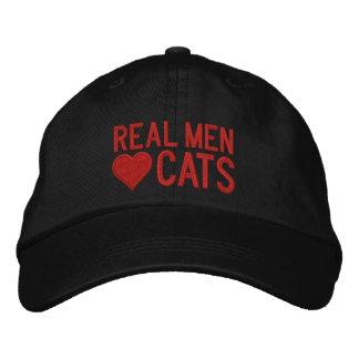 Gatos reais do amor dos homens vermelhos boné bordado