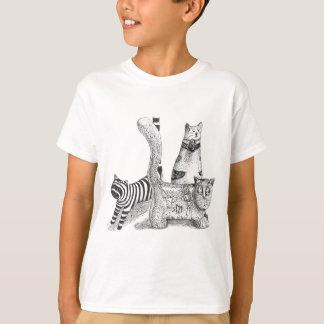 Gatos tristes camisetas