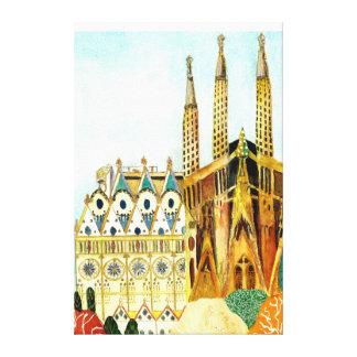 Gaudi 's Barcelona Impressão Em Tela