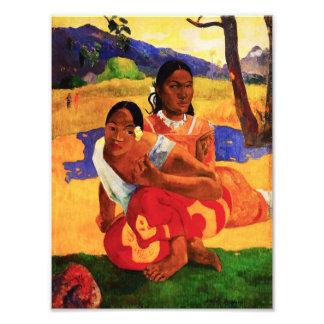 Gauguin quando for você que obtem o impressão casa impressão de foto