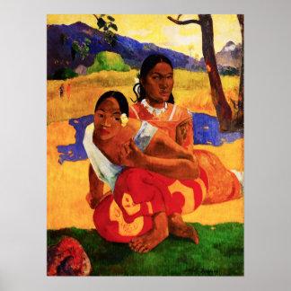 Gauguin quando for você que obtem o poster casado pôster