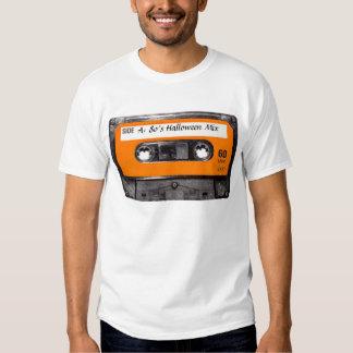 Gaveta alaranjada do anos 80 da etiqueta tshirt