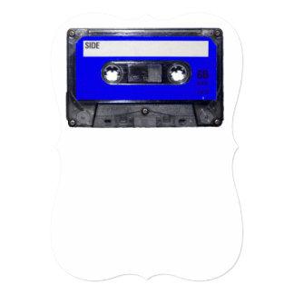Gaveta azul da etiqueta convite