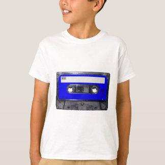Gaveta azul da etiqueta do anos 80 do vintage camiseta