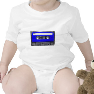 Gaveta azul da etiqueta do anos 80 do vintage macacãozinho para bebês