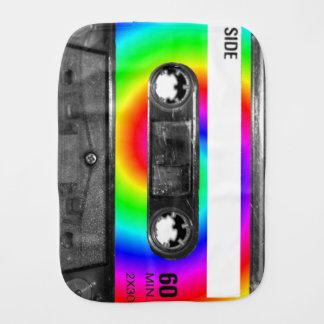 Gaveta da etiqueta do redemoinho do arco-íris fraldinhas de boca