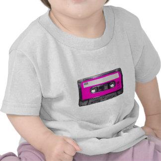 gaveta da etiqueta do rosa do anos 80 tshirt
