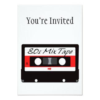 gaveta de fita da mistura da música 80s convite 12.7 x 17.78cm