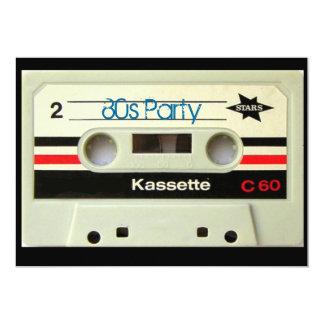 gaveta retro geeky do vintage dos anos 80 convite personalizados