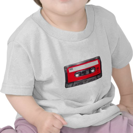 gaveta vermelha da etiqueta do anos 80 camisetas