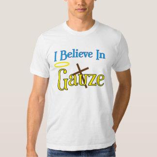 Gaze e cetim tshirt