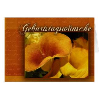 geburtstagswnsche - feliz aniversario alemão cartão