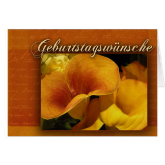 geburtstagswnsche - feliz aniversario alemão cartão comemorativo