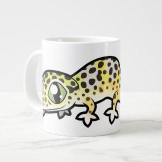 Geco do leopardo dos desenhos animados caneca de café gigante