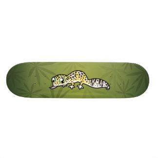 Geco do leopardo dos desenhos animados shape de skate 21,6cm