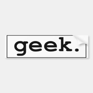 geek. autocolante no vidro traseiro adesivo para carro