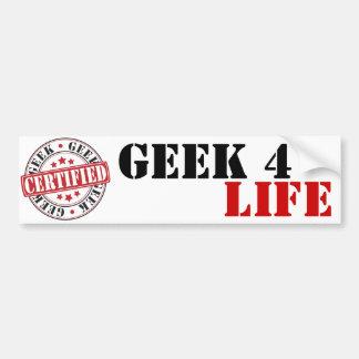 Geek certificado adesivo para carro