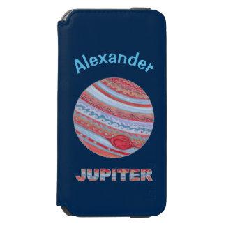 Geek colorido do espaço de Jupiter do planeta