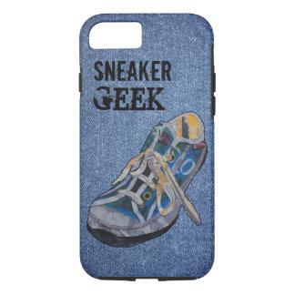 Geek da sapatilha da sarja de Nimes Capa iPhone 7