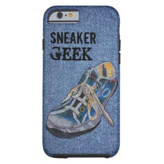 Geek da sapatilha da sarja de Nimes Capa Tough Para iPhone 6