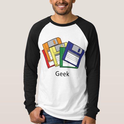 Geek de disco flexível camiseta