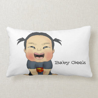 Geek do bebê (menina) almofada lombar