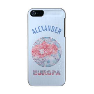 Geek do espaço da lua de Jupiters do Europa Capa Incipio Feather® Shine Para iPhone 5