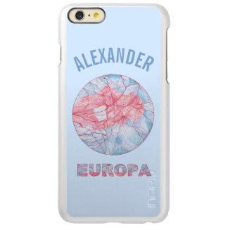 Geek do espaço da lua de Jupiters do Europa Capa Incipio Feather® Shine Para iPhone 6 Plus