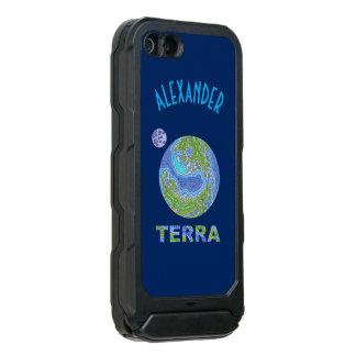 Geek do espaço da terra do planeta do Terra azul e Capa Incipio ATLAS ID™ Para iPhone 5