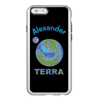 Geek do espaço da terra do planeta do Terra azul e Capa Incipio Feather® Shine Para iPhone 6