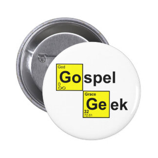 Geek do evangelho bóton redondo 5.08cm