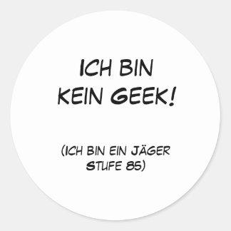 Geek do kein da caixa de Ich! Adesivo
