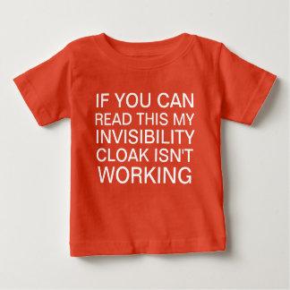 Geek engraçado camiseta para bebê