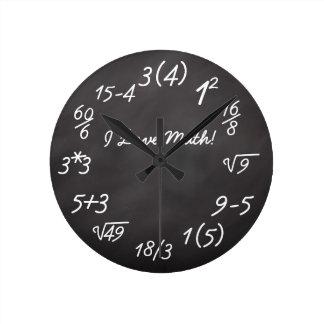 Geek engraçado da matemática relógios de pendurar