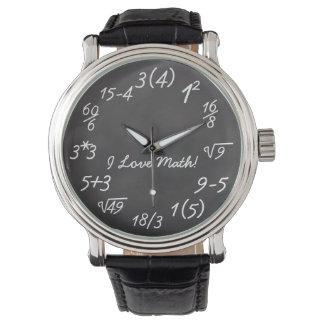 Geek engraçado da matemática relógio de pulso