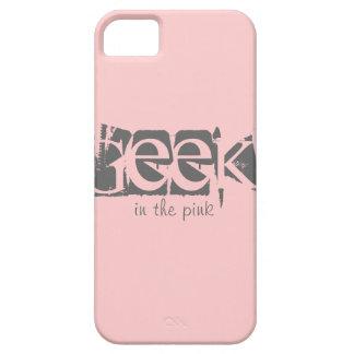 Geek no exemplo feito sob encomenda cor-de-rosa do capa para iPhone 5