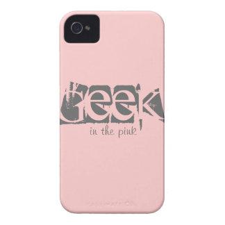 Geek no exemplo feito sob encomenda cor-de-rosa do capinhas iPhone 4