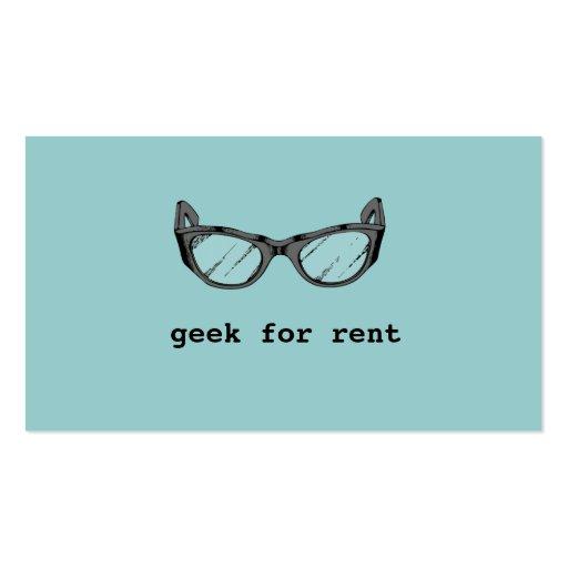 Geek para o aluguel, cartão de visita móvel do col