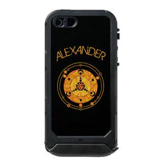 Geek Paranormal do UFO do círculo dourado da Capa Incipio ATLAS ID™ Para iPhone 5