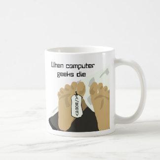 Geeks do computador caneca de café