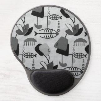 Gel atômico preto & branco Mousepad do teste Mouse Pad De Gel