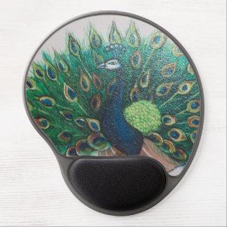 Gel Mousepad da pintura do pavão Mouse Pad De Gel