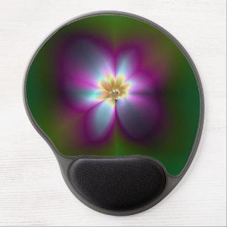 Gel roxo Mousepad da flor do Shimmer Mouse Pad De Gel
