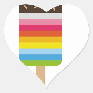 Gelado colorido do pop do Lolly Adesivo Coração